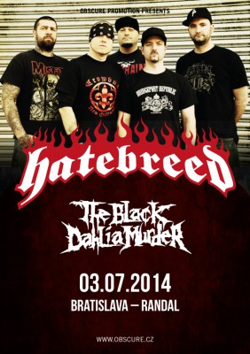 Plakát Hatebreed, Black Dahlia