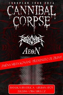 Plakát_Cannibal Corpse Banska