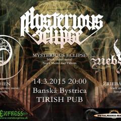 Koncert – Mysterious Eclipse, Ohen, Žriebädlo, 14. marec 2015, Tirish Pub, Banská Bystrica