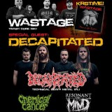 WASTAGE – Krst CD (hostia: DECAPITATED, RESONANT OF MIND, CHEMICAL CANCER), 24. apríl 2015, Collosseum Klub, Košice