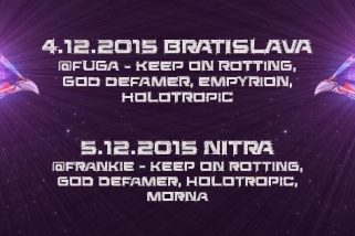 Spoločné koncerty Keep on Rotting, God Defamer a Holotropic!