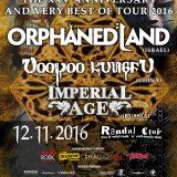 Koncert – ORPHANED LAND + VOODOO KUNGFU + special guest – 12.11.2016, Bratislava, Randal Club