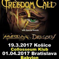 Freedom Call master Of Light Tour 2017 v Bratislave