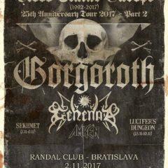 Blood Stains Europe (25th Anniversary tour 2017 – Gorgoroth (NOR), Gehenna (NOR), Amken (GRE), Sekhmet (CZ)