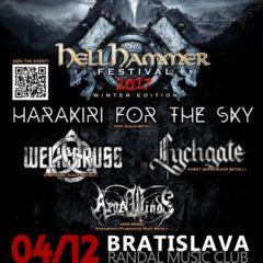 HARAKIRI FOR THE SKY / WELICORUSS / LYCHGATE / AEON WINDS v Bratislave!