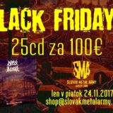 BLACK FRIDAY AKCIA na E-shope Slovak Metal Army!