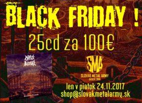 BLACK FRIDAY AKCIA na E-shope Slovak Metal Army!