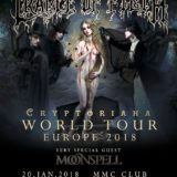 Cradle of Filth a Moonspell predstavia v Bratislave svoje nové albumy!