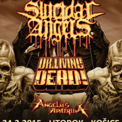 Koncert – Suicidal Angels, Dr. Living Dead!, Angelus Apatrida, 24. február 2015, Collosseum Club, Košice