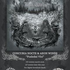 """AEON WINDS a CONCUBIA NOCTE – nové splitko """"Poslední Vlci"""""""