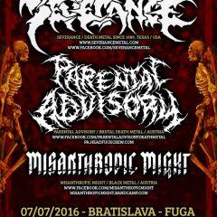 Severance – Parental Advisory – Misanthropic Might, Fuga – Bratislava