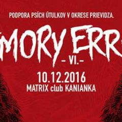 Memory Error VI alebo podpora Podpora Útulkov!