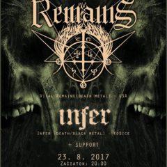 REPORT – Vital Remains, Infer, Hellhookah, Bloody Redemption – 23. 8. 2017, Banská Bystrica, Tartaros