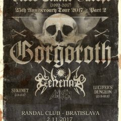 Blood Stains Europe (25th Anniversary tour 2017 – Gorgoroth (NOR), Gehenna (NOR), Amken (GRE), Sekhmet (CZ)