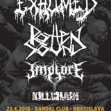 Gore death metalisti EXHUMED spolu s ROTTEN SOUND a IMPLORE v Bratislave!