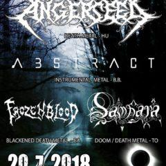 Angerseed, Abstract, Samsara a Frozen Blood v piatok v Bratislave!!!