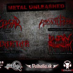 Metal Unleashed  v sobotu v Leviciach