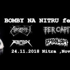 Bomby na Nitru Fest No. II. v sobotu!