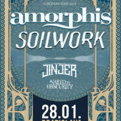 KONCERT – AMORPHIS / SOILWORK / JINJER / NAILED TO OBSCURITY – 28.1. Bratislava MMC