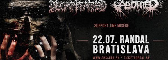 Decapitated a Aborted už v pondelok v Bratislave!
