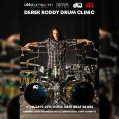 Derek Roddy Drum Clinic v Bratislave sa blíži!